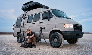 Dude turns grandma's 1994 Dodge Ram van into a badass road tripping machine! - Posted on Roadtrippers.com!