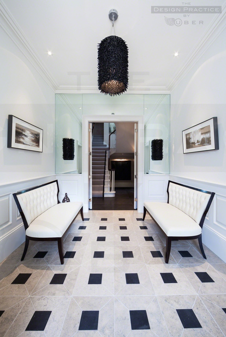 Entrance hall : Grade II Listed Georgian Cheshire home restored and modernised