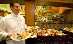 Goofy's Kitchen, Disneyland Hotel, California.  Mickey shaped waffles -- NUFF said.