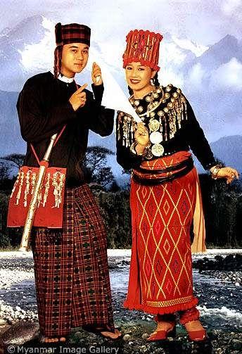 Kachin Burmese national costumes