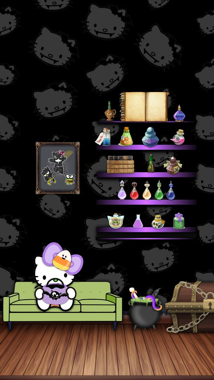 Who android wallpaper pictures of snow free hello kitty wallpaper - Black Halloween And Hello Kitty
