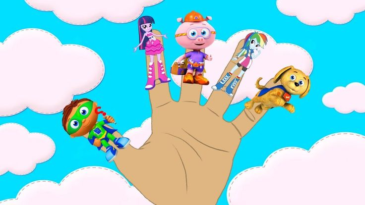 Super Why and Equestria Girls Finger Family Song!