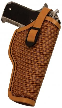 DIY Leather Gun Holster. Create your own braded design or try some dies where you can create your own look.