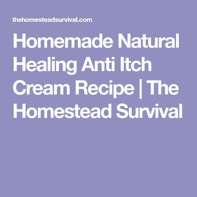 Homemade Natural Healing Anti Itch Cream Recipe | The Homestead Survival