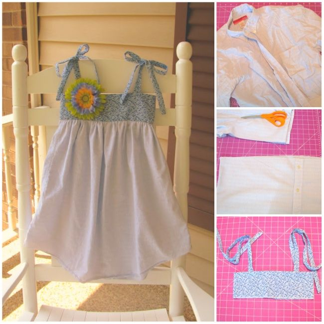 How totransform old shirts into adorable summer dresses for girls