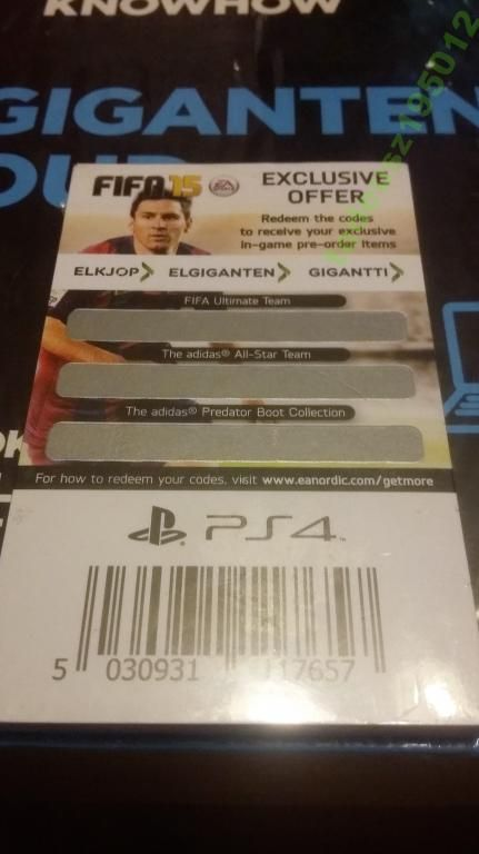 KODY FIFA15 EXCLUSIVE OFFER PS 4