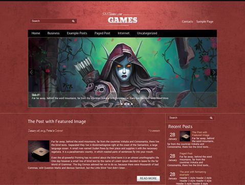 Games is excellent choice for those looking for WordPress theme for personal blog. It supports and comes with custom widgets, drop-down menus, javascript slideshow and lots of other useful features.