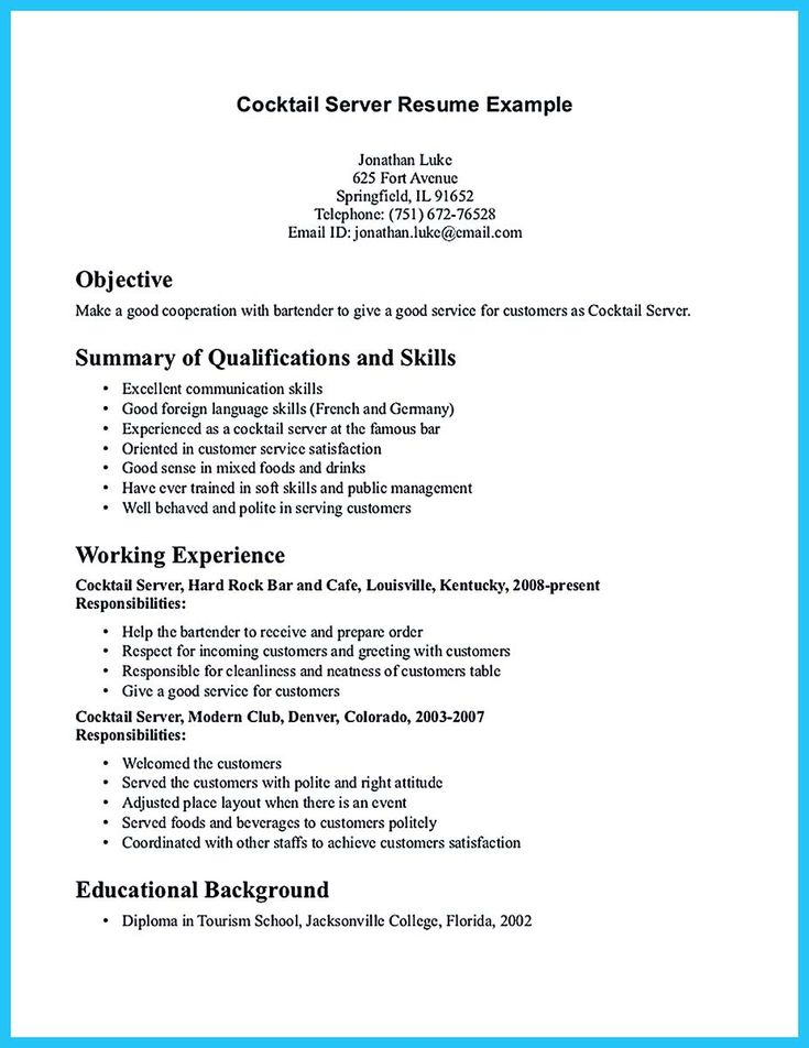 awesome Expert Banquet Server Resume Guides You Definitely Need, Check more at http://snefci.org/expert-banquet-server-resume-guides-definitely-need
