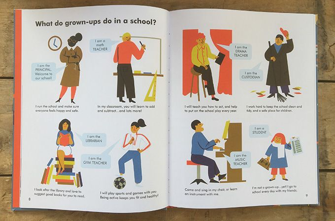 A beautiful book about grown-ups' work with a modern point of view.
