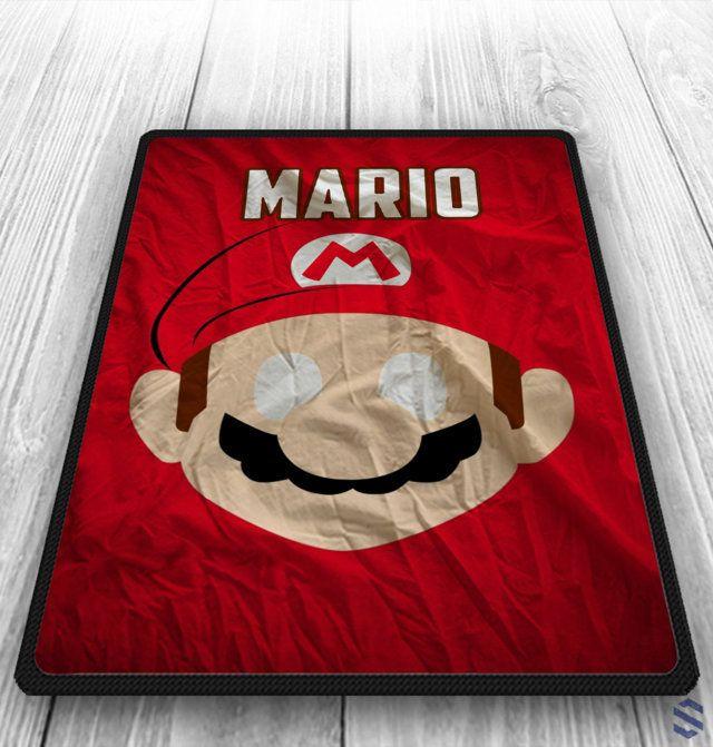 Mario Custom Blanket Old Games Blanket