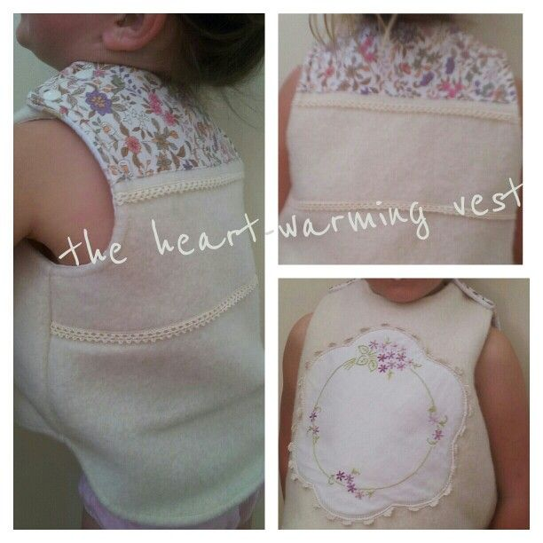 Repurposed wool and vintage fabric vest