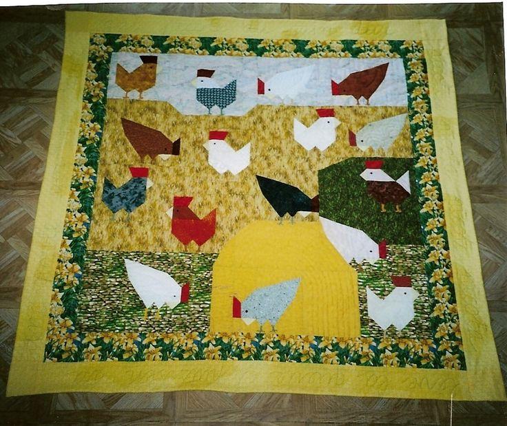 Patch poules cr ation monette patchwork quilts de for Au maison quilts