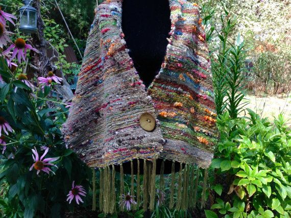 Hand Woven Shawl by WeaverSpider on Etsy