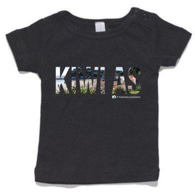 Baby Clothing -  Baby T-Shirt - Kiwi As- Black T-Shirt