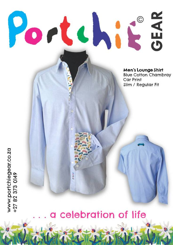 Mens #loungeshirt by #portchiegear - www.portchiegear.co.za