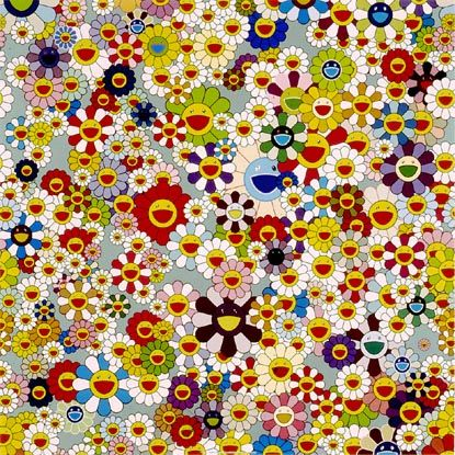 Flowers, Flowers, Flowers - Lithograph in colours, 2010. Signed & numbered Ed. 300. Size: 0.686 x 0.686m    www.waltonfinearts.com