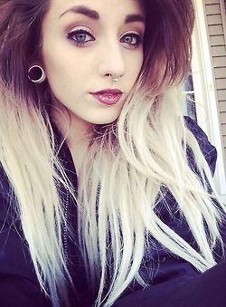 Selfie girl with lip piercing what words