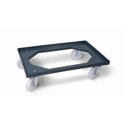 CARRELLO BOX-SERVICE IN ABS GRIGIO CON RUOTE 60x40x16h