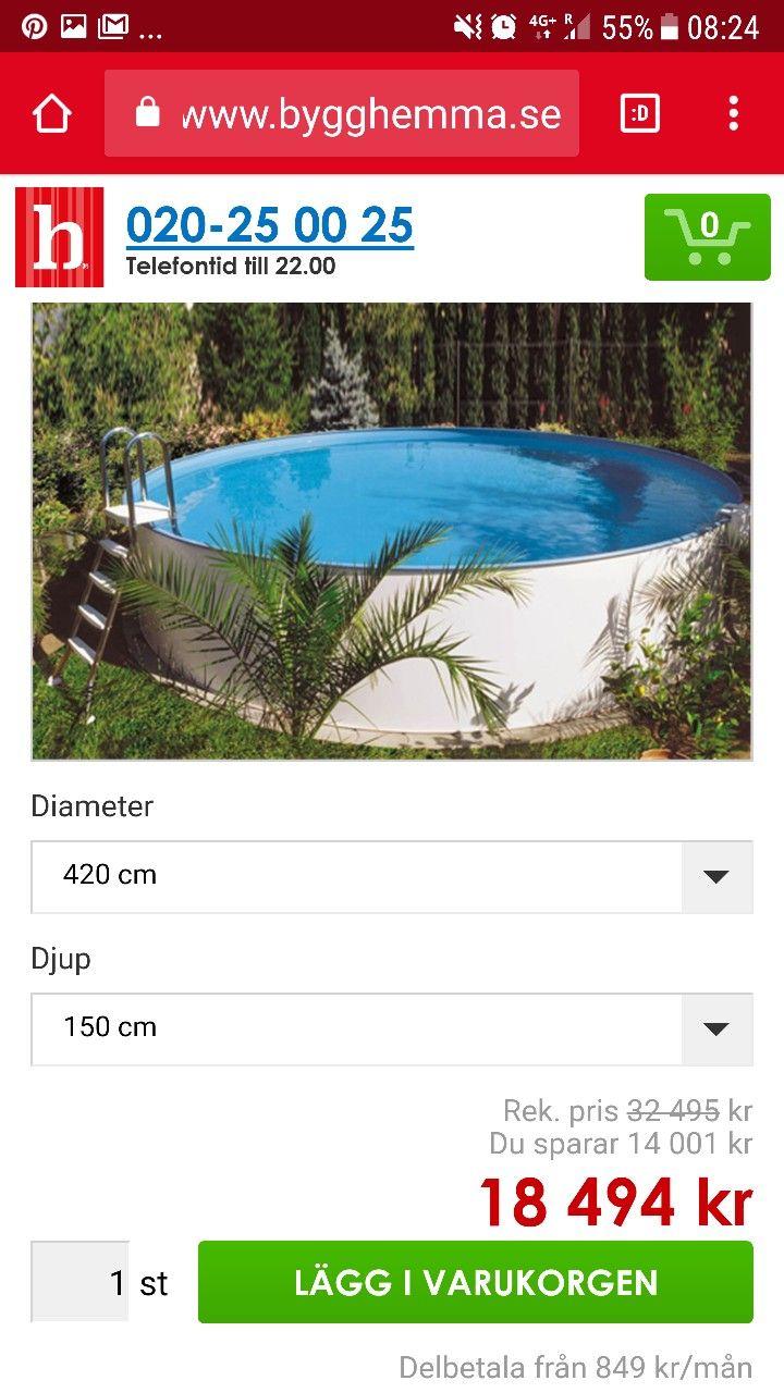 pool 150 cm djup