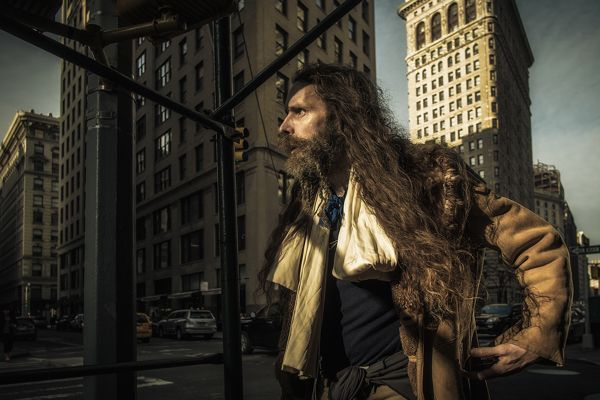 Street photography of studio quality. Could be better if this guy cheered up a bit. By: Ron Gessel, via Behance