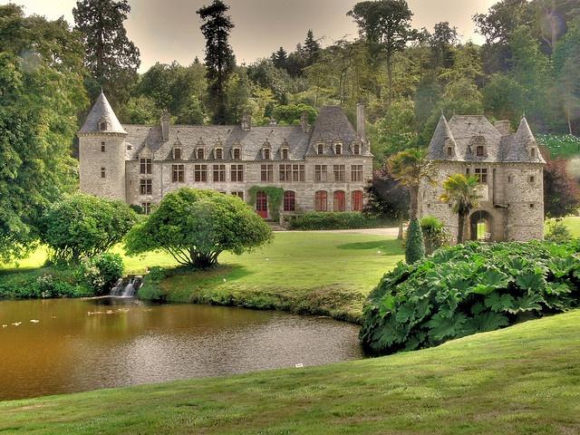 Paysage de Normandie: Le château de Nacqueville
