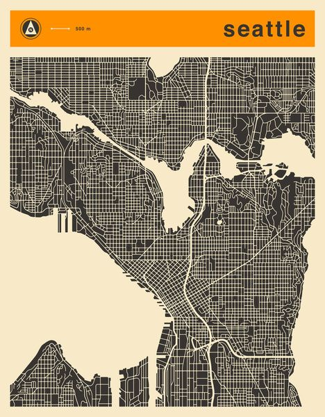 17 Best images about Map art on Pinterest Map art Maps and Seattle