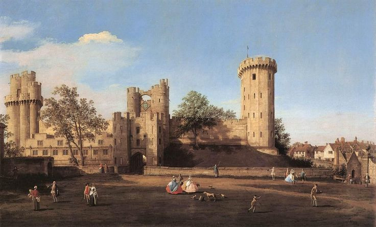 Giovanni Antonio Canal, il Canaletto - Warwick Castle - the East Front, 1752