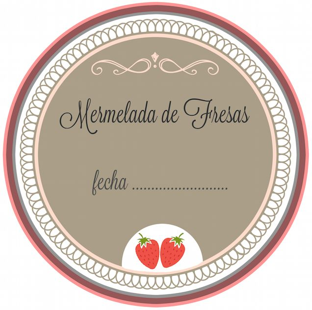 Mermelada casera de fresas con etiquetas imprimibles - Guía de MANUALIDADES