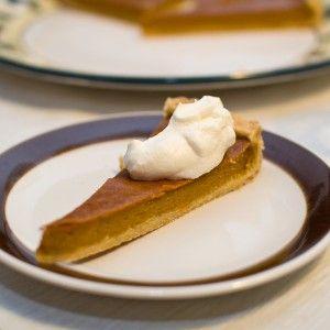 Pompoentaart (pumpkin pie) - Proberen met speculaaskruiden/pumpkin pie spice