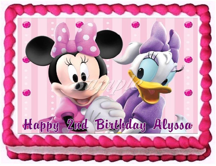 Minnie Mouse and Daisy Duck Edible Frosting Sheet Cake Topper - 1/4 Sheet * SUPERB BEST OFFER! : Baking decorations