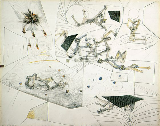 Roberto Matta. Untitled. 1940. 22 x 28 in. LACMA collection