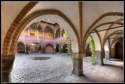 Gothic castle in Lidzbark Warminski, Poland