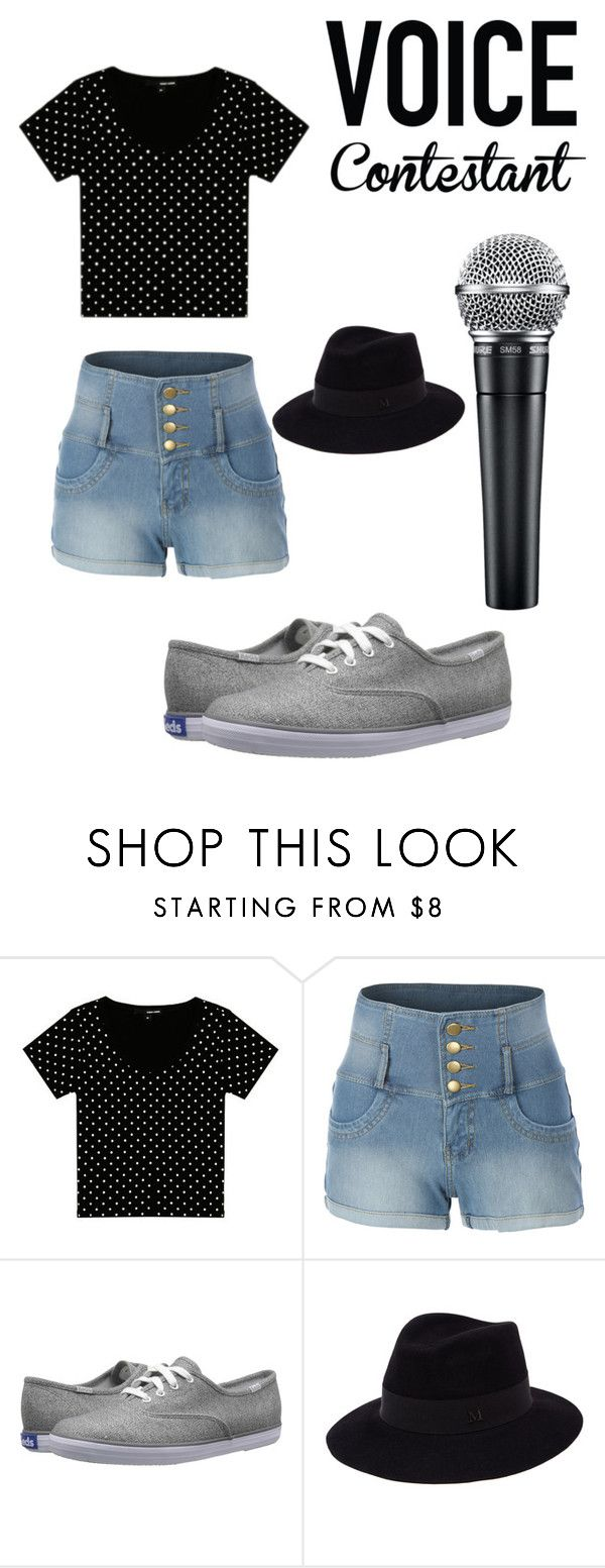 """the voice"" by juilet13 ❤ liked on Polyvore featuring LE3NO, Keds, Maison Michel, thevoice and YahooView"