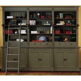 Bibliothèque ouverte en bois massif L 300 cm''Ixelles 3''