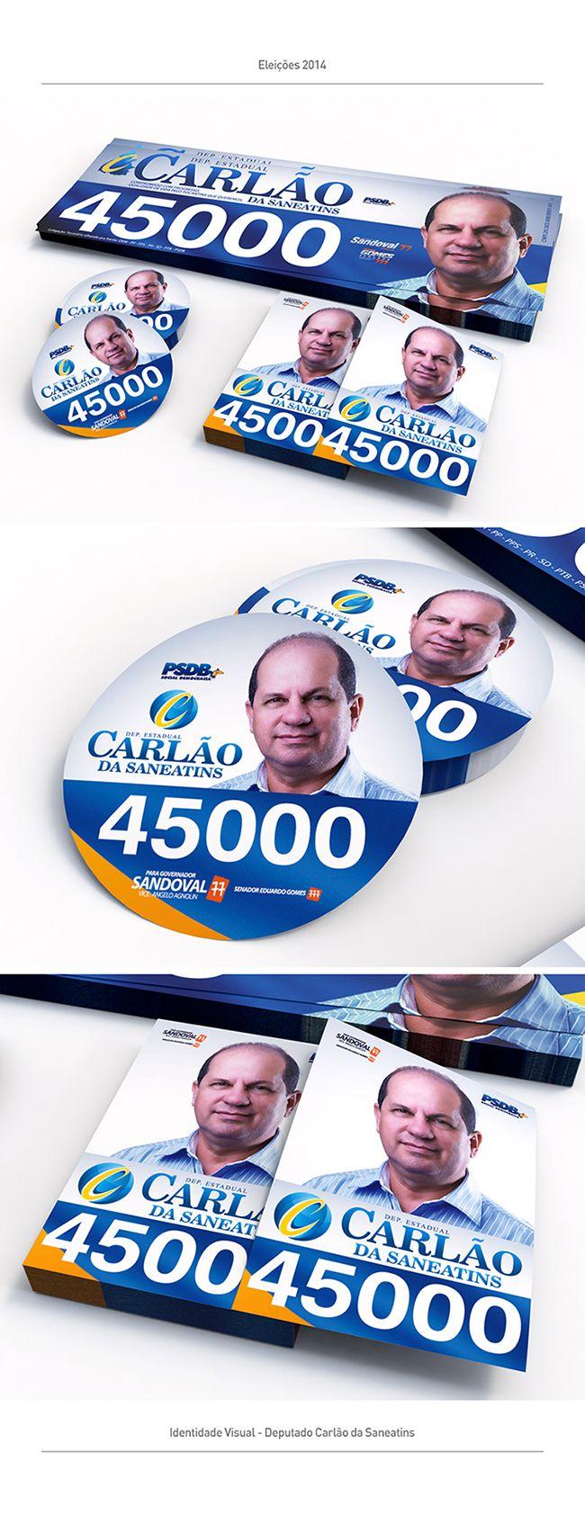Algumas identidades visuais para campanha política no ano de 2014 em Palmas, Tocantins.