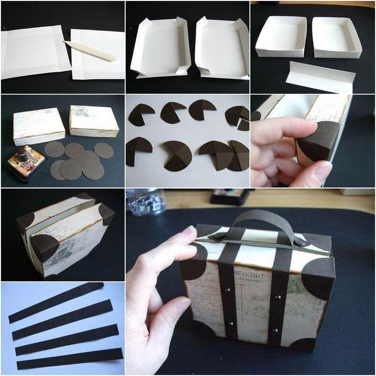 Wie DIY kreative Gepäck Stil Geschenkbox #gepack Stil # Geschenkbox #creative