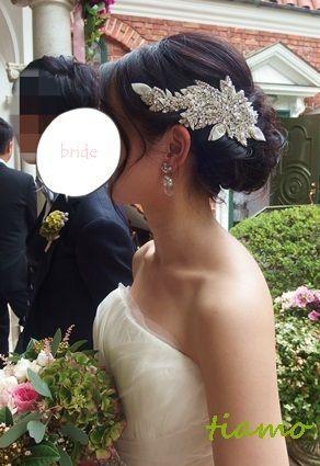 黒髪花嫁さまの大人可愛い3スタイル♪素敵な一日 の画像|大人可愛いブライダルヘアメイク『tiamo』の結婚カタログ