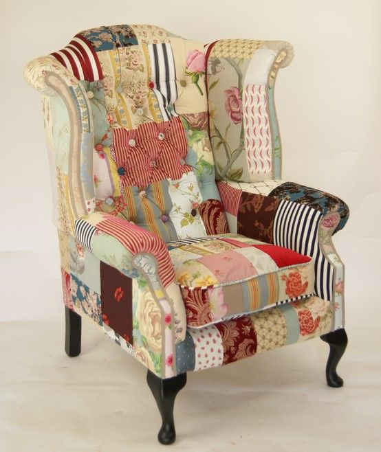 best 25 patchwork chair ideas on pinterest patterned chair love chair and funky chairs. Black Bedroom Furniture Sets. Home Design Ideas