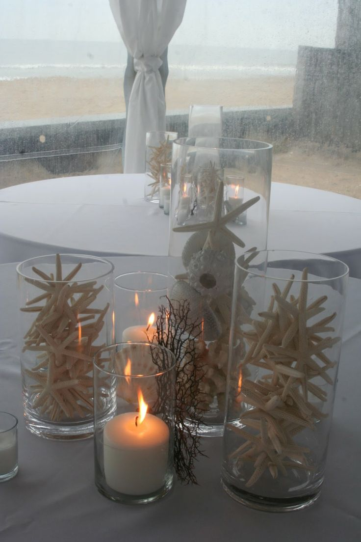 Coral Beach Wedding Centerpieces | Starfish Centerpiece Coral Sea Urchin Sandbridge Virginia Beach Isha ...