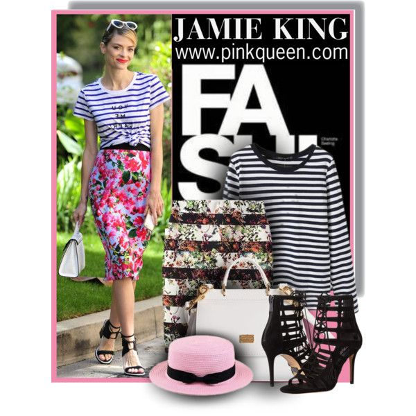 Jamie King - Spring Look - Pinkqueen.com by anne-mclayne on Polyvore featuring Michael Kors, Dolce&Gabbana and Michael Simon