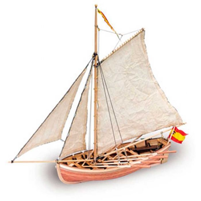 LANCHA DEL SAN JUAN NEPOMUCENO - Constituye para España un hermoso ejemplo del heroismo de sus marinos. Bajo el mando del brigadier Don Cosme Damián Churruca, tomó parte en la Batalla de Trafalgar en 1805.