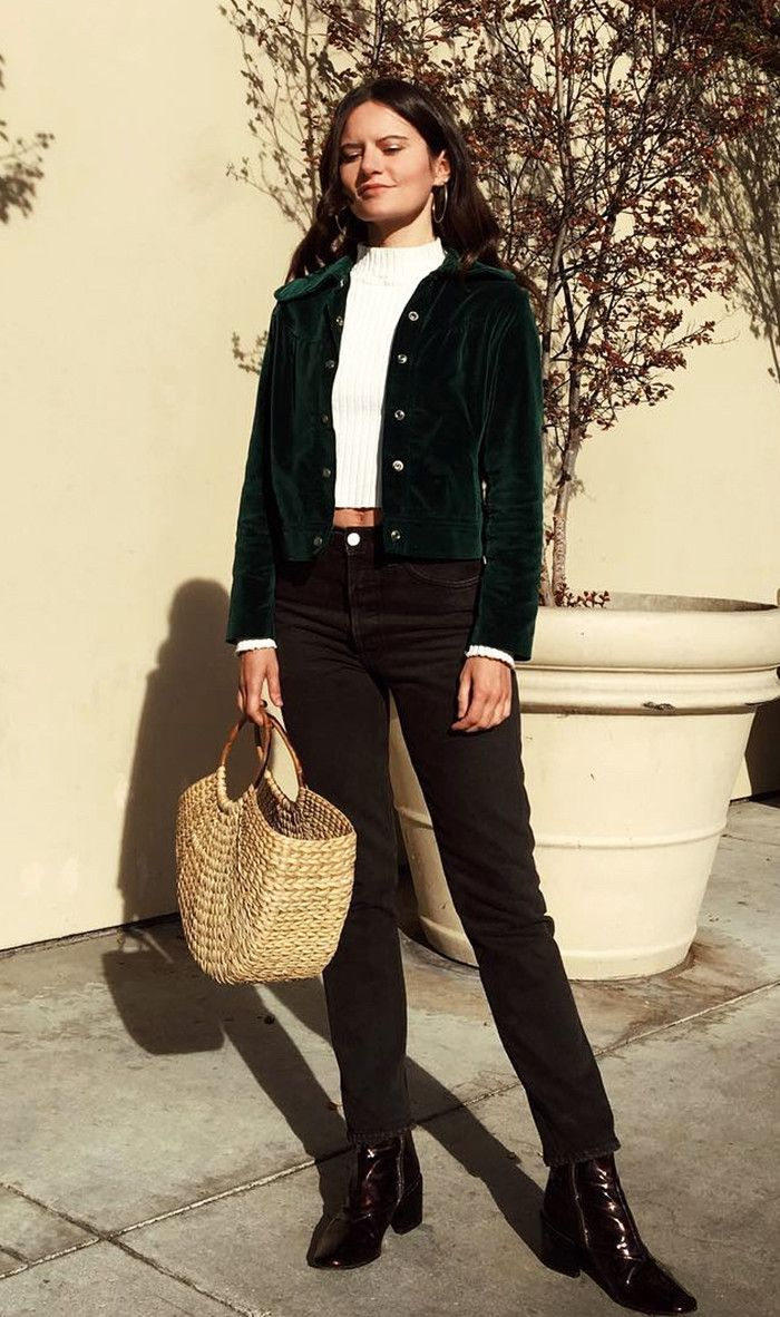 The Outfit Parisian Girls Are Wearing on Repeat via @WhoWhatWear