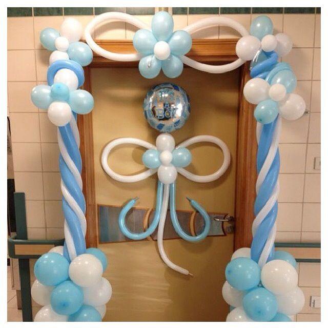 Baby shower balloon decor baby shower balloon decor baby for Balloon art for baby shower