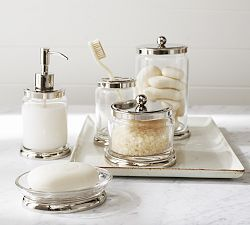 Bathroom Canisters, Wastebaskets & Toothbrush Holders | Pottery Barn