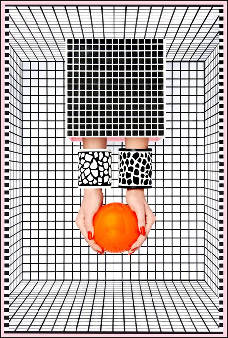 """""""optical trickery"""" by Camille Walala (photography by jess bonham)"""