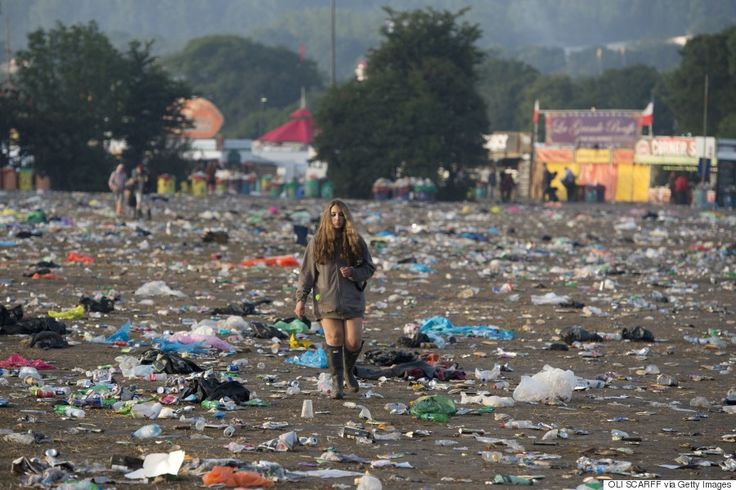 Rubbish tip after Festival