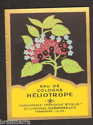 10 ETIQUETTES PARFUM: EAU DE COLOGNE HELIOTROPE Parfumerie Française Etoile