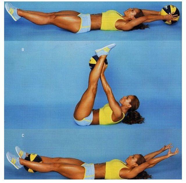 Stability Ball Leg Raises: Leg Raises With Medicine Ball For Great Abs