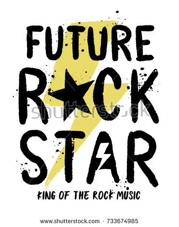 Rock star slogan vector slogan graphic, for t-shirt and other uses