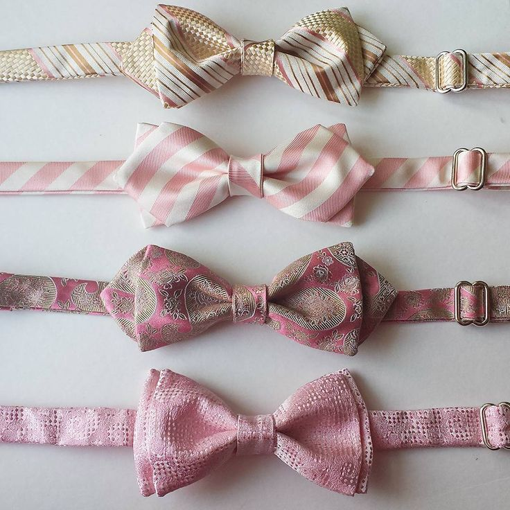 Looking for one of a kind, hand-made #bowties for the #blush, #champagne or #gold #wedding party?  Mix and match patterns to personalize and create an unforgettable look.  Email us for the #custom order, or visit our #Etsy shop.  All pieces are #handmade from the best quality #italian #silk, here in #Toronto.  We are not a mass production, so you  are getting something that no one else ever had!  #weddings #bowtie #blushwedding #dustypink #oneofakind #customties #custombowtie #416 #yyz…
